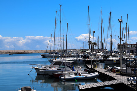 Harbor in Bari, Italy