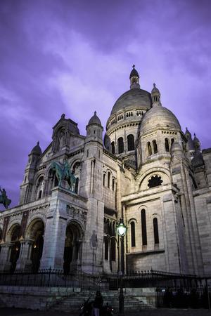 Sacre Coeur Basilica at dawn, Paris
