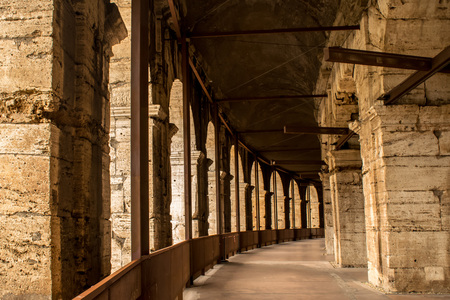 The hallway of the Colosseum, Rome