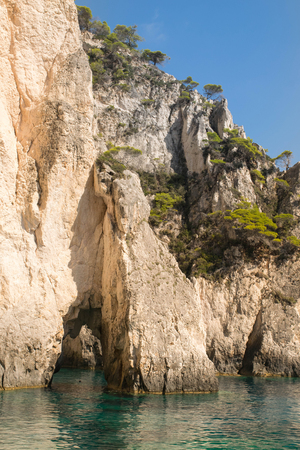 Cliff, coastline of Zakynthos