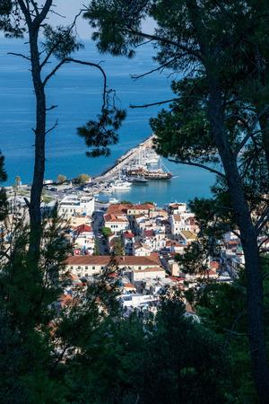 Zakynthos city between pines
