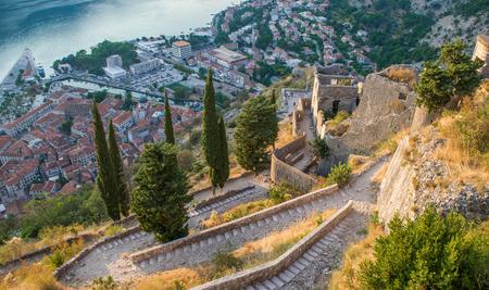 Stairs in Kotor, Montenegro
