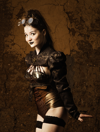 Steampunk girl 版權商用圖片