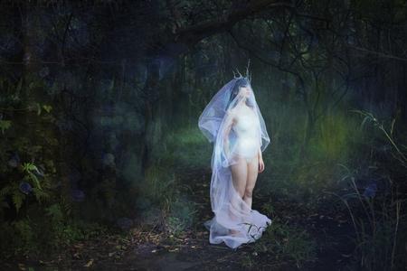 Girl in veil Reklamní fotografie - 72935855