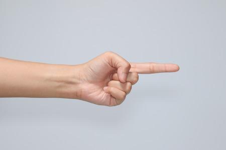 hand symbol in white background Stock Photo