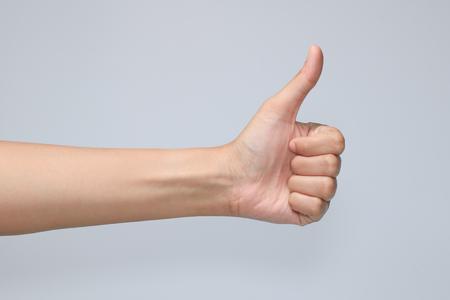 hand symbol in white background Banco de Imagens
