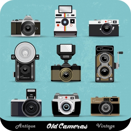 Vintage Camera Set Illustration