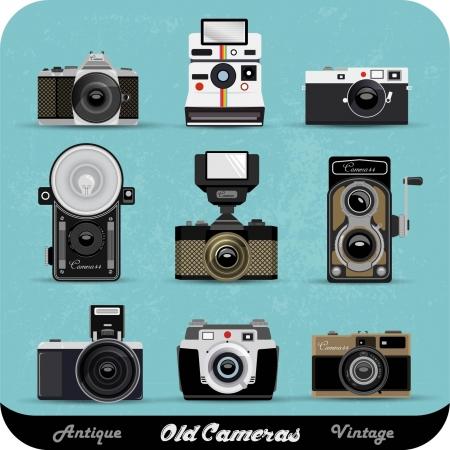 Vintage Camera Set Illustration