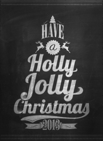 Vintage Christmas Background With Typography Stock Vector - 16974807
