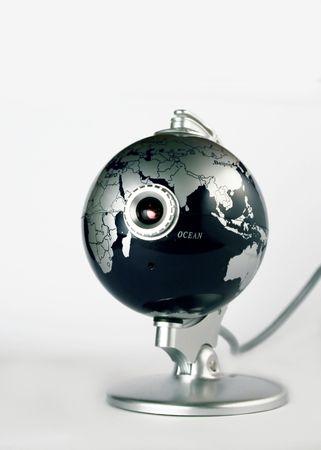 Webcam in a globe photo