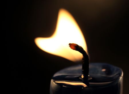Heart shaped candle flame Stock Photo - 2093362