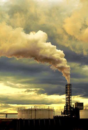 contaminacion acustica: El calentamiento de la Tierra  Foto de archivo