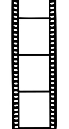 Film strip with empty space to place your photos Vector