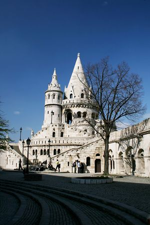 bastion: Fishermans Bastion in Budapest