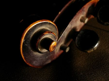 Old violin scroll photo