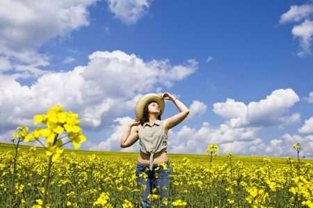 Girl enjoying spring Stock Photo - 3002423