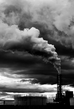 ruido: Contaminantes centrales el�ctricas  Foto de archivo