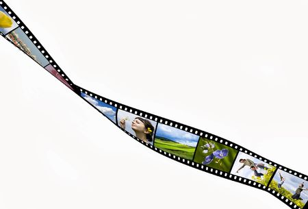 snap: Film strip with vacation snap shots