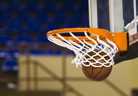 Ball in hoop Stock Photo - 3637886