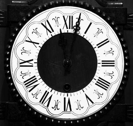 numeros romanos: Antiguo reloj