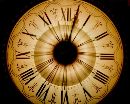 Vintage clock blurred in Stock Photo - 3656797
