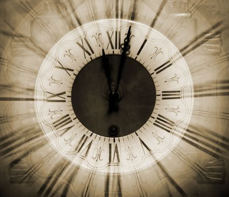 Vintage clock blurred in Stock Photo - 3656794