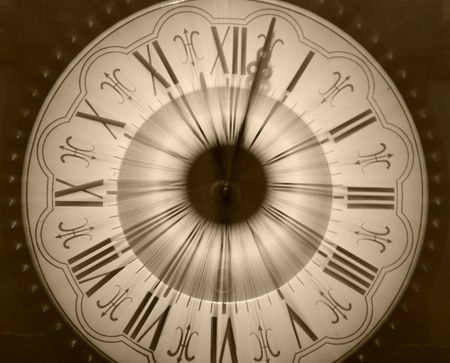 Vintage clock blurred in Stock Photo - 3656798