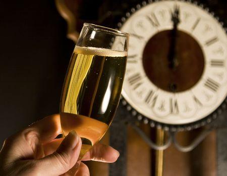brindis champan: Brindis de champ�n a la medianoche