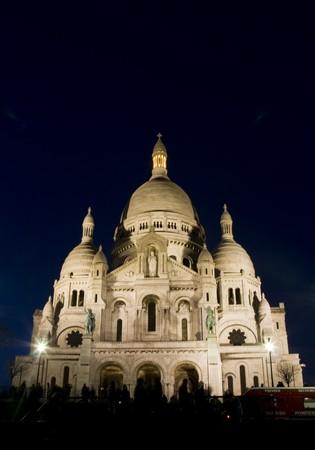 coeur: Sacre Coeur at night