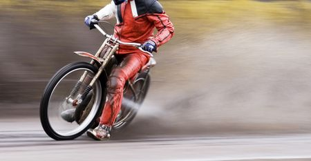 Speedway rider Stock Photo - 5025882