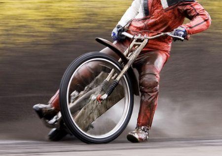 Speedway rider photo
