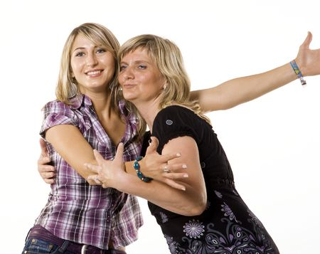 Mother and teenage daughter hugging Stock Photo - 5273515