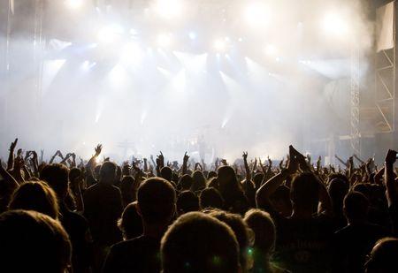 rock concert: Folla al concerto