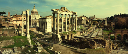 obelisc: Postcard with Foro Romano