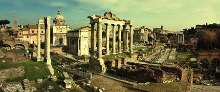 obelisc: Postcard with Foro Romano