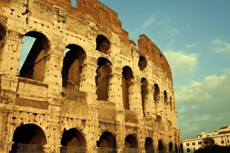 pantheon: Colosseum Rome Italy Stock Photo