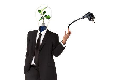 Green energy symbol photo