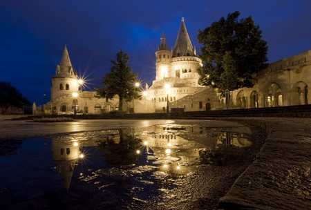 bastion: Fishermans Bastion Budapest, Hungary  Stock Photo