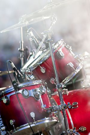 Drums and smoke Stock Photo - 7083258