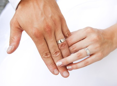 Hands and rings Stock Photo - 7354341