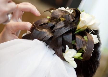 Beautiful wedding hairstyle  photo
