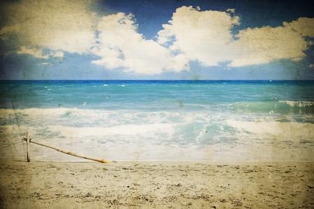 Vintage seascape Stock Photo - 7625182