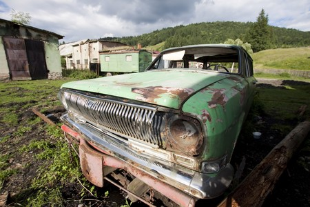 Old car wreck  photo