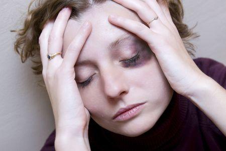 violencia intrafamiliar: V�ctima de la violencia dom�stica