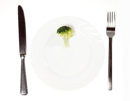 Kleine broccoli op plaat