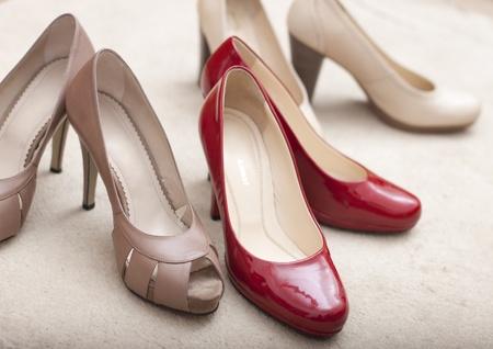 Three pairs of elegant woman s shoes