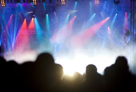 music production: Stage lights  Stock Photo