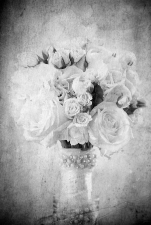 Vintage wedding bouquet  photo