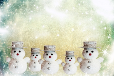 Christmas card with snowman and place for text Stock Photo - 16561799