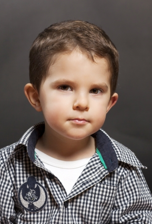 Portrait of cute little boy photo
